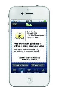 phone with mobile coupons
