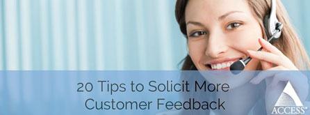 20 Customer Feedback Tips