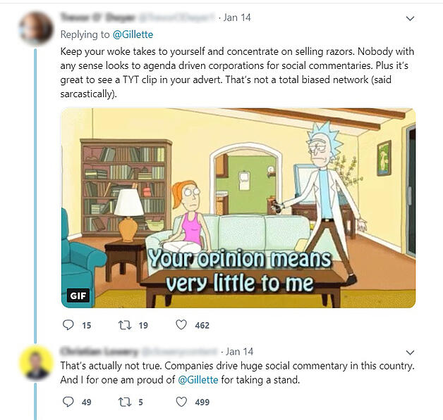 social commentary twitter debate blurred